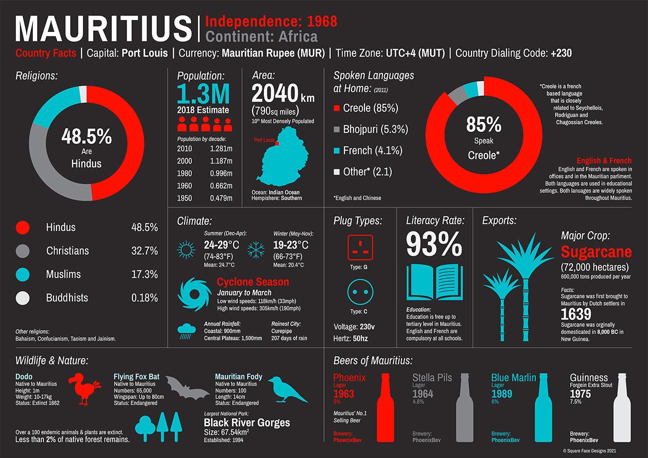 Mauritius Infographic 2021